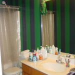 Calvert Painting bathroom stripes